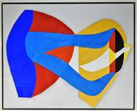 Original oil painting by the American abstract expressionist Fritz Bultman (1919-1967), titled Cape May II (est.  $6,000-$9,000), one of five works by Bultman in the auction.