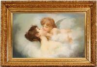 Original pastel colors on board painting by Andrew Putnam Hill (Calif., 1853-1922), titled Cupid and Woman (est.  $7,500-$12,500).