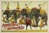 Original 1909 poster for Pawnee Bill, 30 inches by 40 inches, mounted on linen, ready to frame.  Pawnee Bill was a Wild West showman who briefly partnered with Buffalo Bill (est.  $10,000-$15,000).