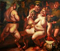 Vasily Shulzhenko (b.1949) Bacchanal (Night of the Generals),