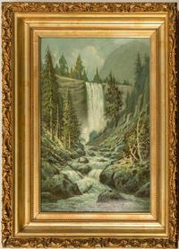 Oil on board painting of Vernal Falls in Yosemite (Calif.), signed by the artist Benjamin Willard Sears (American, 1846-1905), 25 inches by 18 ½ inches ($2,000).