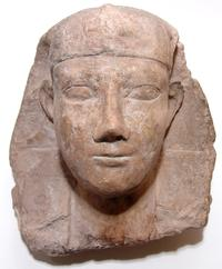 Egyptian pharaoh limestone head from a sphinx dating to the Ptolemaic period, circa 332-30 BC, depicting a pharaoh wearing a Nemes head cloth, 11 ½ inches tall (est.  $10,000-$15,000).