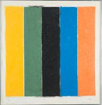 Signed and numbered (6/23) print on handmade paper by Ellsworth Kelly (1923-2015), titled Colored Paper Image XIII (est.  $10,000-$15,000).