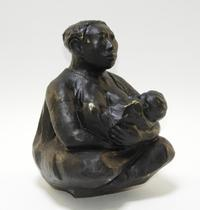 Figural bronze sculpture by Mexican-born American artist Jose Luis Cuevas (1934-2017), of a mother and child, done in 1985, 10.5 inches tall (est.  $3,000-$5,000).