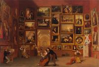 Samuel F.B.  Morse, Gallery of the Louvre, 1831-33.  Oil on canvas, 73 ¾ x 108 in.  Terra Foundation for American Art, Daniel J.  Terra Collection