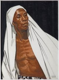 Winold Reiss, Black Prophet, 1925, pastel on Whatman board, private collection, © The Reiss Trust.