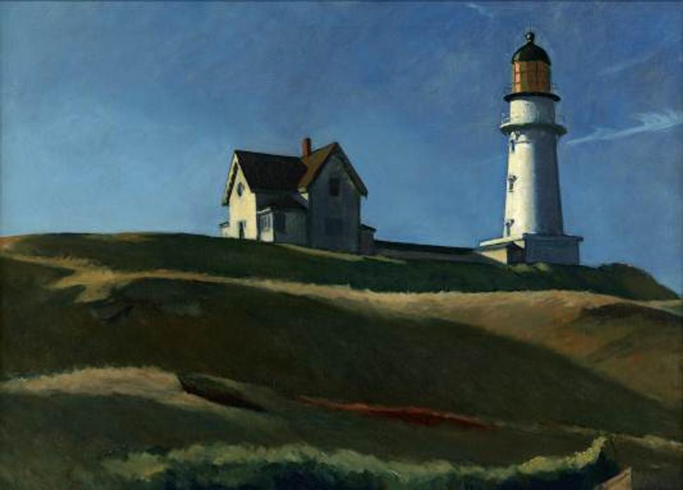 Edward Hopper, Lighthouse Hill, 1927, oil on canvas, Dallas Museum of Art, gift of Mr.  and Mrs.  Maurice Purnell, 1958.9; Winold Reiss.
