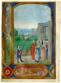 At TEFAF, Les Enluminures will exhibit TRIUMPH OF DAVID, Berlin Master of Mary of Burgundy, c1480, Belgium, 153x110mm.