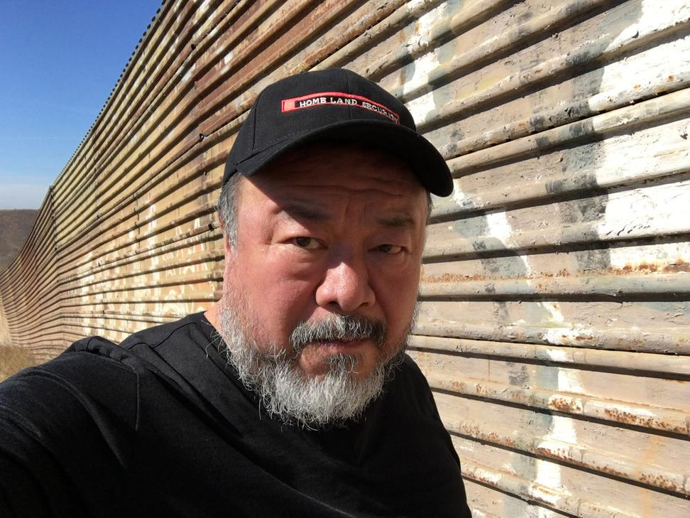 Ai Weiwei at the U.S./Mexico border, Tijuana, 2016