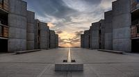 Louis Kahn, Salk Institute, 1965.  Photo: Joe Belcovson for the Salk Institute of Biological Studies.