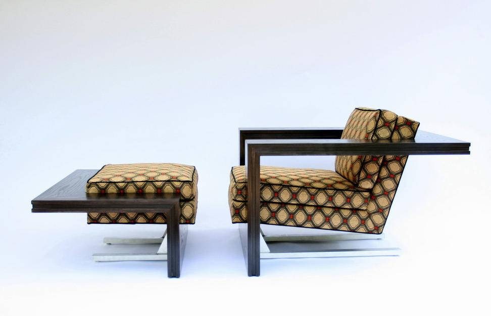 Dragonfly Lounge Chair and Ottoman.  Courtesy of Sebastian Carpenter Design (MA).