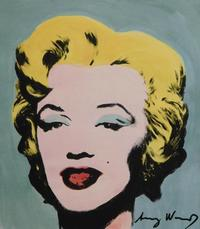 Mixed media on paper of Andy Warhol's iconic Marilyn Monroe image, attributed to the Pop Art master, artist signed front and back (est.  $8,000-$10,000).