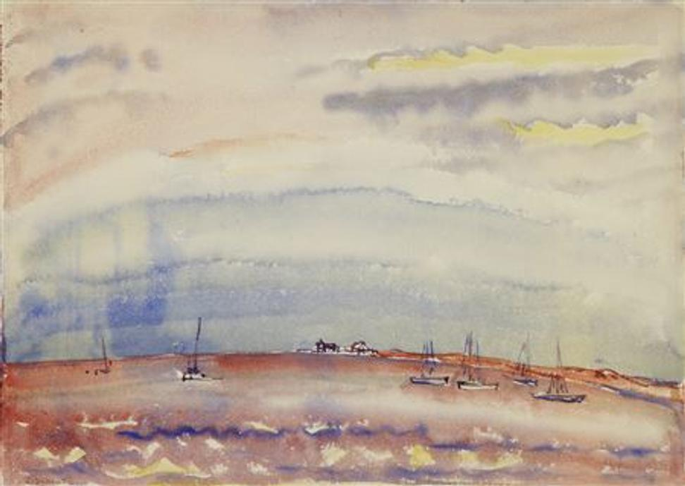 Charles Demuth, Marine, n.d., watercolor on paper, collection of the Demuth Museum, Lancaster, PA