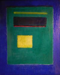 Oil and enamel painting attributed to American-Russian Federation artist Mark Rothko (1903-1970), untitled (Blue Square), one of three Rothkos in the auction (each one est.  $100,000-$200,000).