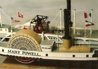The mid-section of steamboat MARY POWELL c.1887 -Collector's Model