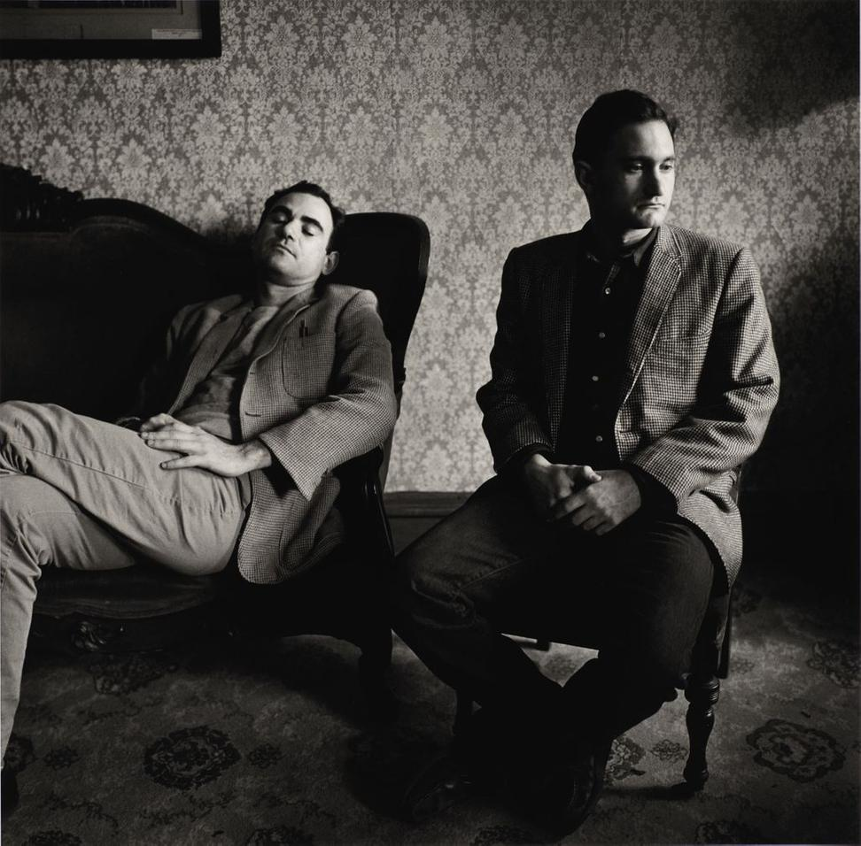 Peter Hujar, John Erdman and Gary Schneider at Mohonk Mountain House, 1984.  Pigmented ink print.  Harvard Art Museums/Fogg Museum, Schneider/Erdman Printer's Proof Collection, partial gift, and partial purchase through the Margaret Fisher Fund, 2016.172.
