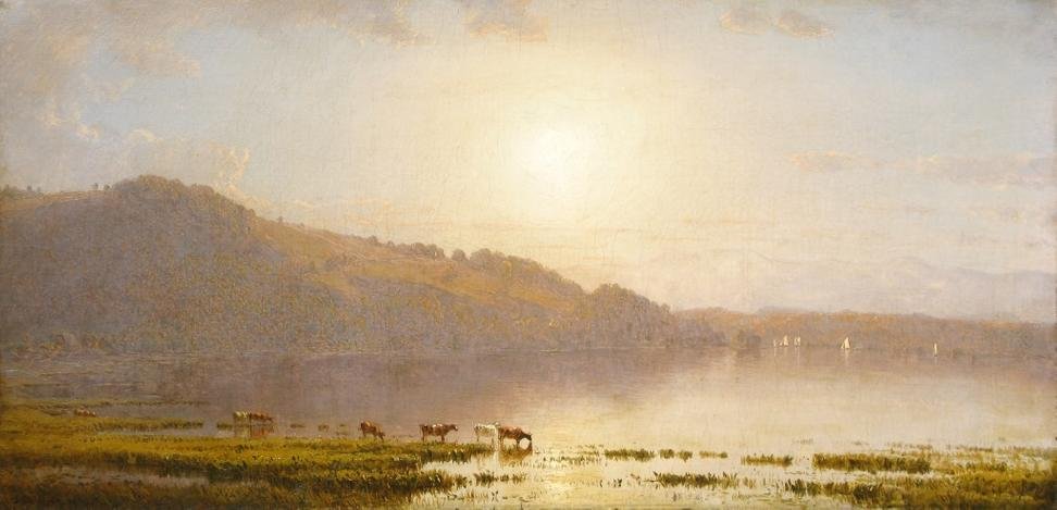 Sanford Robinson Gifford, Mount Merino, 1861, Oil on canvas, 11 × 22 in.  Signed and dated, lower left: S R Gifford 1860, Private collection.