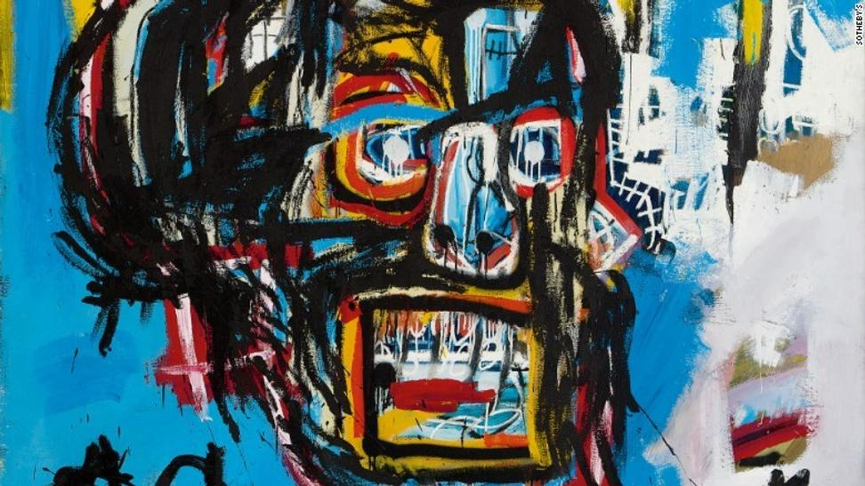 Detail of Jean-Michel Basquiat's Untitled, 1982