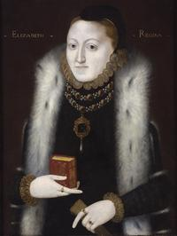 Portrait of Queen Elizabeth, English School c.  1558, depicting the Queen at the outset of her reign with important religious iconography, on view 29 June – 6 July 2012, at Philip Mould & Co, 29 Dover Street, London, W1S 4NA