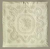 A trapunto white work so-called 'bridal' quilt of extraordinary workmanship