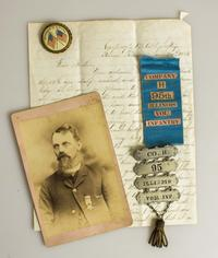 A photo, letters, medals and other personal effects of the brothers Job and Mark Hathaway, of the 95th Illinois Volunteer Infantry and the 47th Regiment U.S.  Colored Infantry, respectively.