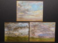 Group of three pastel on brown paper drawings by the renowned French painter Claude Monet (1840-1926), being sold as a single lot (est.  $50,000-$80,000).