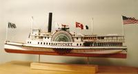 Steamboat NANTUCKET c.1895, Collectible Wood Model