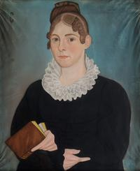 Woman of the Smalley Family.  Micah Williams (1782-1837).  Pastel on paper.