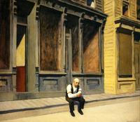 Edward Hopper (1882-1967) Sunday, 1926.  Oil on canvas, 29 x 34 inches.  The Phillips Collection, Washington, D.C.  Acquired 1926
