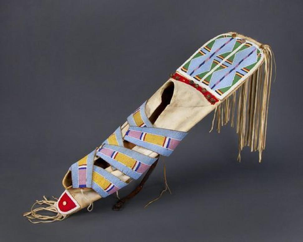 Cradleboard, Crow artists, early 20th century.