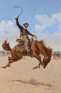 Frederic Remington, The Buck-jumper.