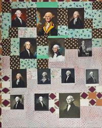 George Deem, George Washington Quilt, 1970 in Rago's upcoming Post-War and Contemporary Art auction on November 5, 2016 with an estimate of $2,500-3,500