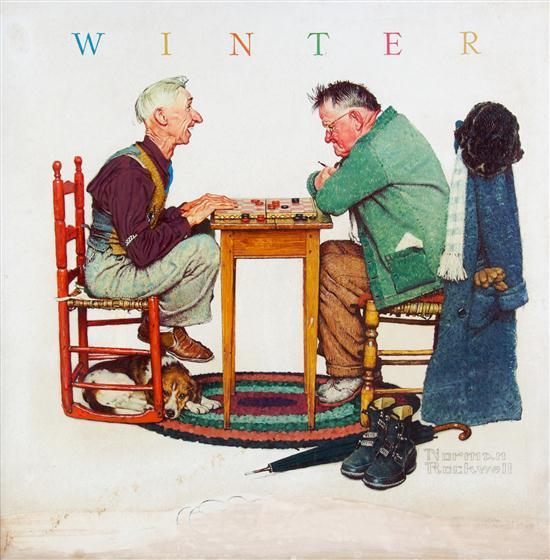 Norman Rockwell  Playing Norman Rockwell Winter Pictures