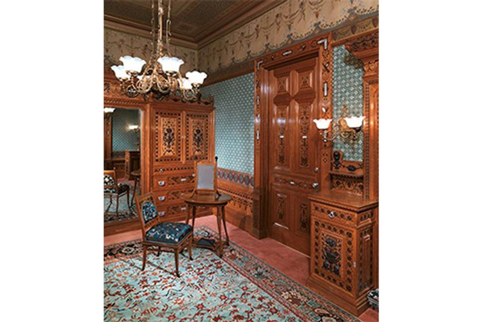 George A.  Schastey & Co.  (1873–1897), Worsham-Rockefeller Dressing Room, New York City, 1881-82.