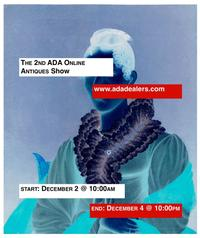 Shop the ADA Online Antiques Show, Dec.  2-4, 2014.  As an ADA event, each item is sold with a guarantee of authenticity!