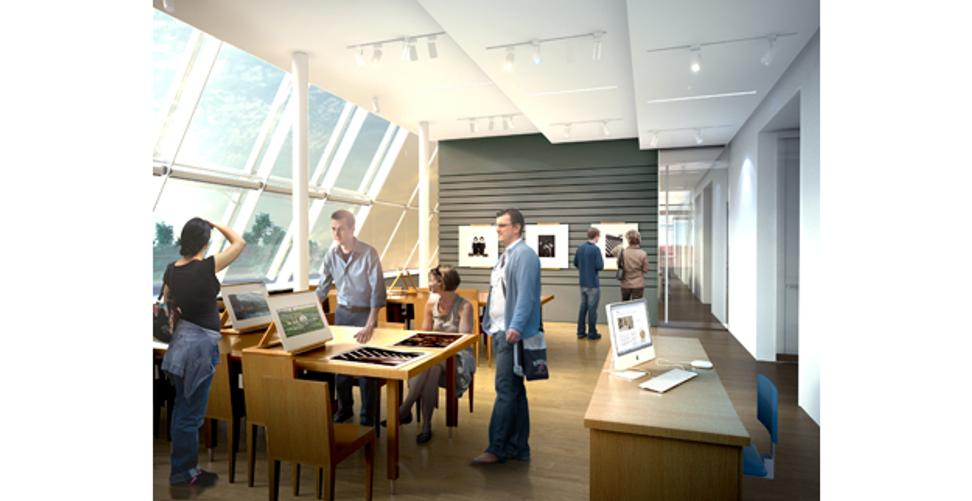 Rendering of the new art study center