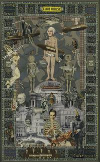 Felipe Jesus Consalvos, Grins and Chuckles, c.  1920–50s.  Collage.  Harvard Art Museums/Fogg Museum, Collection of Didi and David Barrett '71, 2011.43.  Photo: Harvard Art Museums, © 2011 President and Fellows of Harvard College.