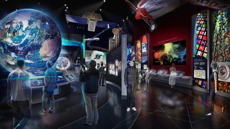 Artist rendering of the One World Connected exhibition.