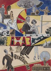 Solomon Benediktovich Telingater (Russian, 1903–1969), Jazz, 1928.  Collage on paper.  Gift of Thomas P.  Whitney (Class of 1937), 2001.28