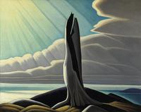 Lawren Harris, North Shore, Lake Superior, 1926.  Oil on canvas 40 1/4 x 50 1/8 in.  (102.2 x 127.3 cm).  National Gallery of Canada; Purchased 1930.  ©Family of Lawren S.  Harris.  Photo ©NGC.