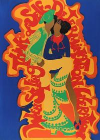 "BARBARA JONES-HOGU, , ""When Styling,"" 1973 (screenprint)."