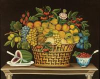 Still Life with Basket of Fruit, Artist Unidentified.