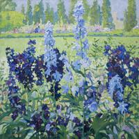 'Larkspur' by Jane Peterson (1876-1965)