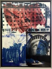 Lithograph and screenprint in colors by Robert Rauschenberg (Am., 1925-2008), titled People for the American Way (1991), signed lower left ($24,600).