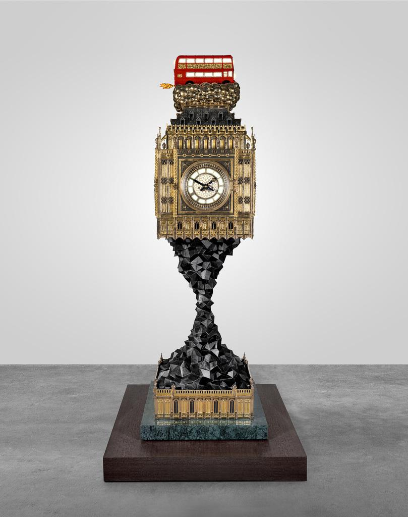STUDIO JOB | BIG BEN (AFTERMATH) 2009   2014; POLISHED AND PATINATEDED  BRONZE, ALUMINIUM, BRASS, 24K GILDING AND SILVERLEAF, HAND PAINTINGS, ...