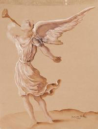 Salvador Dali, Angel, 1947