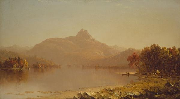 An October Afternoon, 1871, by Sanford Robinson Gifford (American, 1823–1880) Oil on canvas.  Henry H.  and Zoe Oliver Sherman Fund Photograph © Museum of Fine Arts, Boston