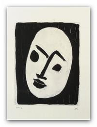 Henri Matisse, White Mask on Black Background (Masque blank sur fond noir) ©2018 Succession H.  Matisse / Artists Rights Society (ARS), New York