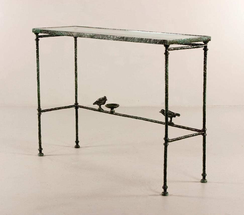 Console Aux Oiseaux, Bronze And Glass, By Diego Giacometti, Sold For  $204,000 At