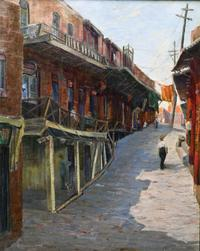 Hazel Coldwell Clark Pletsch (1891–1967) Old Chinatown, Los Angeles, c.  1928 Oil on canvas.  Collection of Maureen Siegel Sprowles.  Photo: Martin A.  Folb, PhD.